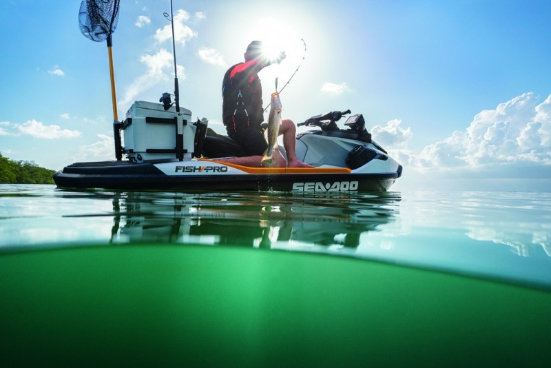 BRP UNVEILS INDUSTRY FIRST DEDICATED FISHING PERSONAL WATERCRAFT THE 2019 SEA DOO FISH PRO