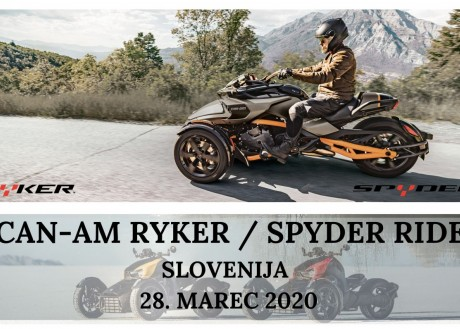 CAN-AM RYKER & SPYDER RIDE SLOVENIA 2020 - CANCLED!